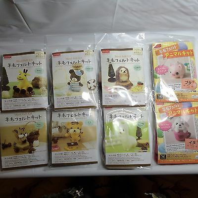 Daiso Japan needle felting CUTE animal kit Wool Felt from Japan