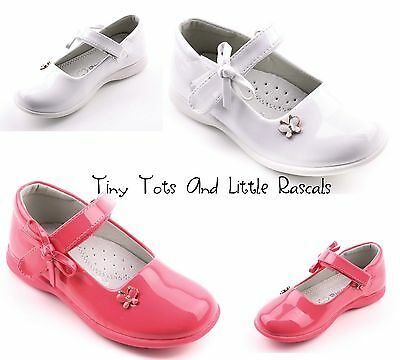 Toddler Girls Patent School Wedding Shoes Pumps Leather Insole Sizes UK 8 - 11
