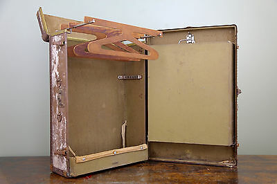 "29"" Vintage Mendel Tourist Steamer Trunk Wardrobe Coffee Table Antique Suitcase"