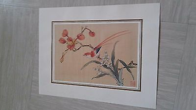 antique silk painting Chinese with seal