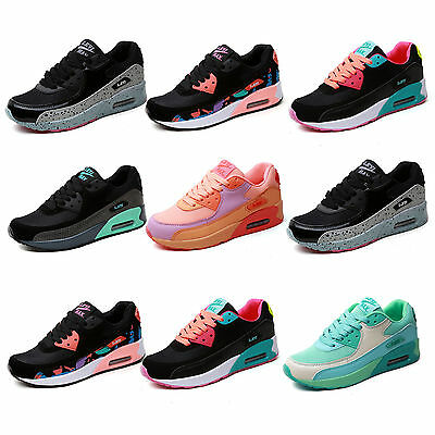 Ladies Running Air Trainers Womens Shock Absorbing Fitness Gym Sports Shoes Size