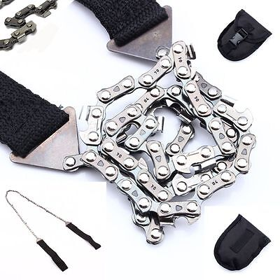 Portable Survival Emergency Hand Chain Saw EDC Camping Tool Hiking