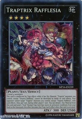 MP16-EN239 Traptrix Rafflesia Secret Rare 1st Edition Mint YuGiOh Card