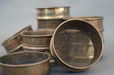 Small (5 in.) Vintage Brass Sieves - Set of 12