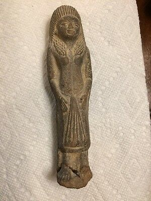 Ancient Egyptian Ushabti Grave Tomb Mummy Figurine - Woman With Arms At Side