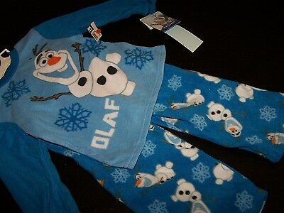 """Boys or Girls Size 5T~""""Olaf"""" Frozen Fleece Pajamas~Disney~Blue~New with Tags!"""