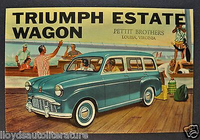 1958 Triumph Estate Wagon Sales Brochure Folder US Market Excellent Original 58