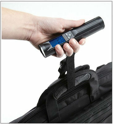 50KG Digital Portable Electronic Travel Hanging Luggage Scale 8 LED Torch