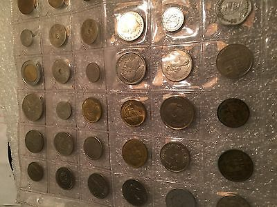 118 coin Mixture world foreign coins, MANY different countries...lots of fun