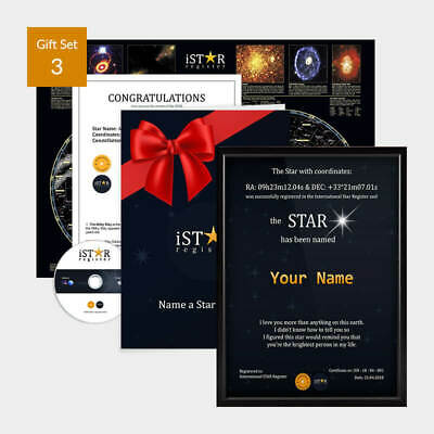Name a Star Gift Set Personalised Gift for Boyfriend Gift for Birthday