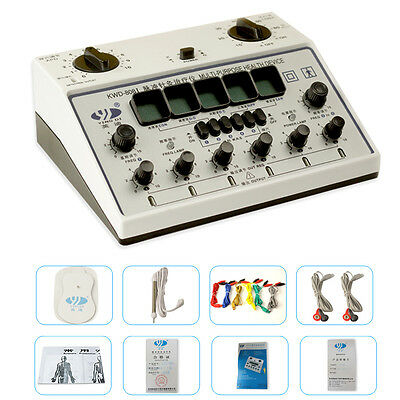 New Electric Acupuncture Stimulator Machine 6 Output Patch Massager Care Gift CA
