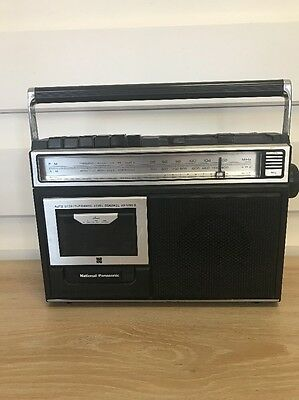 Vintage National Panasonic RX-1250D. Radio Works. Cassette Player Is Faulty