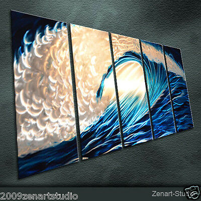 Original Metal Wall Art Abstrac Painting Sculpture Indoor Outdoor Decor-Zenart