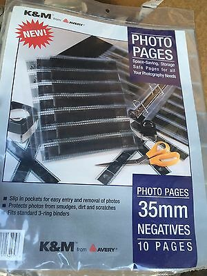K&M Avery 3-Ring Binder 10pk 35mm Negatives Photography Pages Preservers