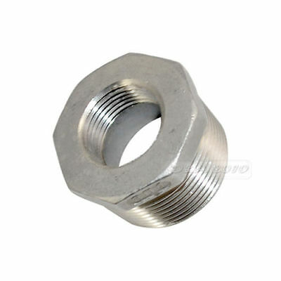 "1-1/4"" Male x 3/4"" Female Thread Reducer Bushing Pipe Fitting SS304 NPT megairon"