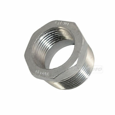 "1-1/4"" Male x 1"" Female Threaded Reducer Bushing Pipe Fitting SS304 NPT megairon"