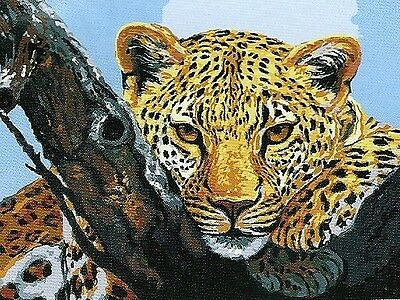 """""""Hey Good Looking"""" Big Cat Needlepoint Tapestry Ready To Stitch & Enjoy Forever!"""