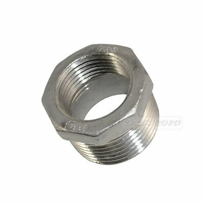 "1"" Male x 3/4"" Female Threaded Reducer Bushing Pipe Fitting SS304 NPT megairon"