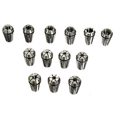 13 pcs ER11 collets 1-7mm Set For CNC milling tool engraving BT P5R5
