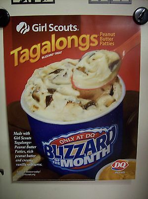 """22"""" X 28"""" Dairy Queen Tagalongs Blizzard Poster"""