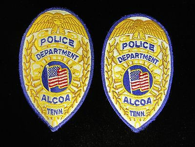 Alcoa Police TENN Large Shoulder Patch, Tennessee TN Law Enforcement, Lot of 2