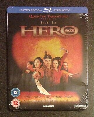 HERO Blu-Ray SteelBook Zavvi UK Exclusive Tarantino Jet Li 1/2000 New OOP & Rare