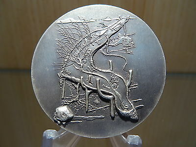 Silber Silver Argent 999  Medaille Salvador Dali Silbermedaille Medal