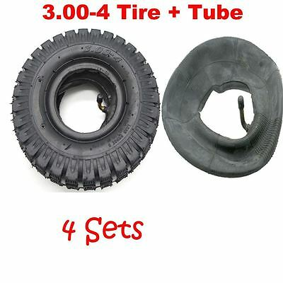 4x Mini Pocket ATV TYRE + TUBE 3.00-4 Tire 9x3.5-4 Quad Wheel Front Rear 49cc 47