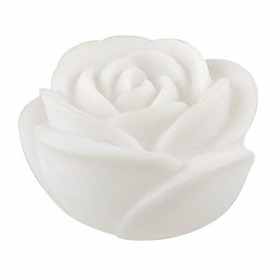 Home Ornament White Rose Shape Colored Changeable LED Night Light BT E6W3