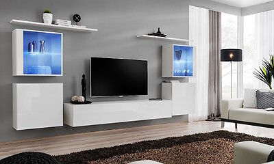 SHIFT 14 WHITE contemporary wall units up to 90\