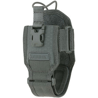 Maxpedition AGR Radio Pouch Hex Ripstop Nylon Bungee GPS Holster Carrier Grey