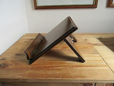 Vintage Wooden (Oak?) Bookrest With Gothic Style Carved Stand