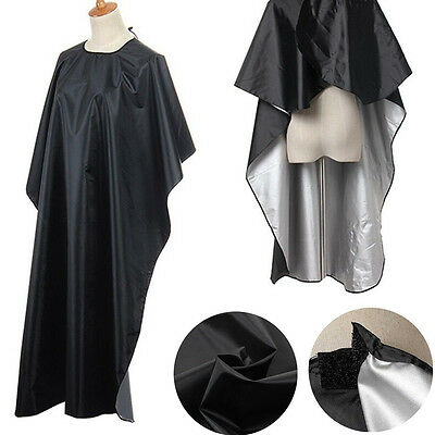 Pro Salon Hair Cut Hairdressing Hairdresser Barbers Cape Gown Adult Cloth Black