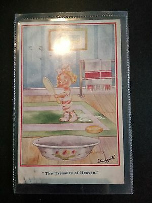 "Vintage Comic Postcard. By Ludgate. ""The Treasure of Heaven"" Posted 1919"