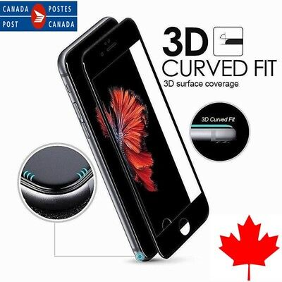 3D Curved Full Cover Tempered Glass Screen Protector For iPhone X / 6S 7 8 /Plus