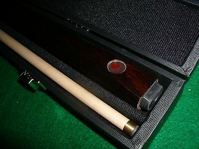 Dufferin 8 Ball Cue Maple Red Leaf Top Brand with Cue Case  NEW