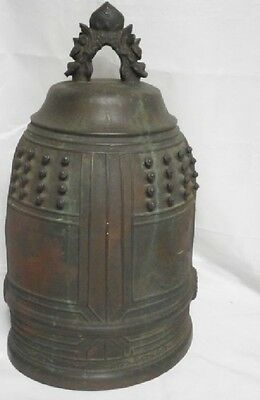 Japanese Antique Bronze Temple  Bell  23inch