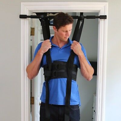 Sit and Decompress | The Ultimate Low Back Decompression (Harness + Chin up bar)