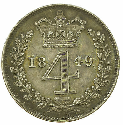 Great Britain, Victoria Maundy Fourpence, Silver, 1849