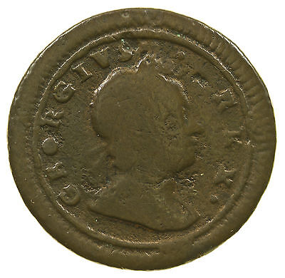 Great Britain, George I Farthing, R/r In Rex, Rare, 1723