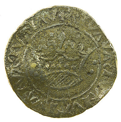 Medieval Jeton, Anglo-French Crown Type, Token, Counter, Uneven Flan