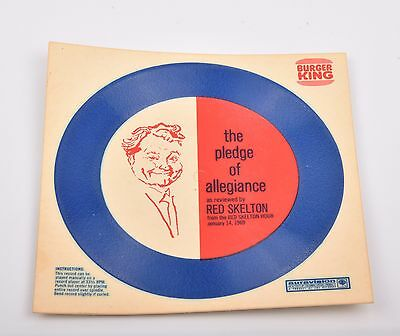 Vintage UNPUNCHED Record PLEDGE OF ALLEGIANCE Red Skelton 33rpm 1969 no reserve