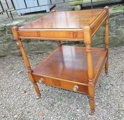 Vintage  neat  and versatile quality coffe /side / bedroom table in yew wood