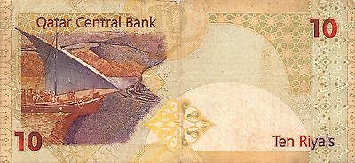 Qatar  10 Riyals  ND. 2003  P 22  Circulated Banknote MXA5EL