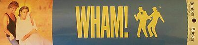 Wham Blue Bumper Sticker 1985 Vintage George Michael