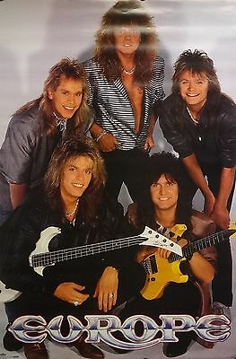 Europe 24x36 Group Music Poster 1987 Joey Tempest