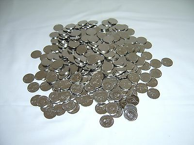 400 Stainless Steel Skill Slot Machine Tokens = New = Pachislo Arcade / Home