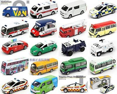 Tiny Hong Kong Special Diecast Car Model Policie Fire Engine Ice Cream Van 01-30