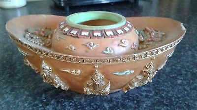 vintage Chinese ornament bowl with seal on base