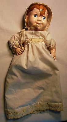 Blue-eyed Baby Doll in Dressing Gown and Bonnet, Ceramic, 1964
